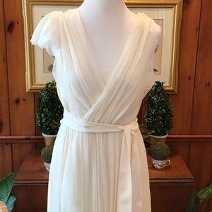 J. Crew Silk Chiffon Wedding Dress sz8 NWT